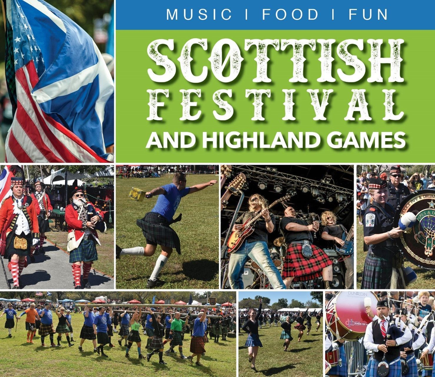Scottish Festival and Highland Games Music - Food - Fun